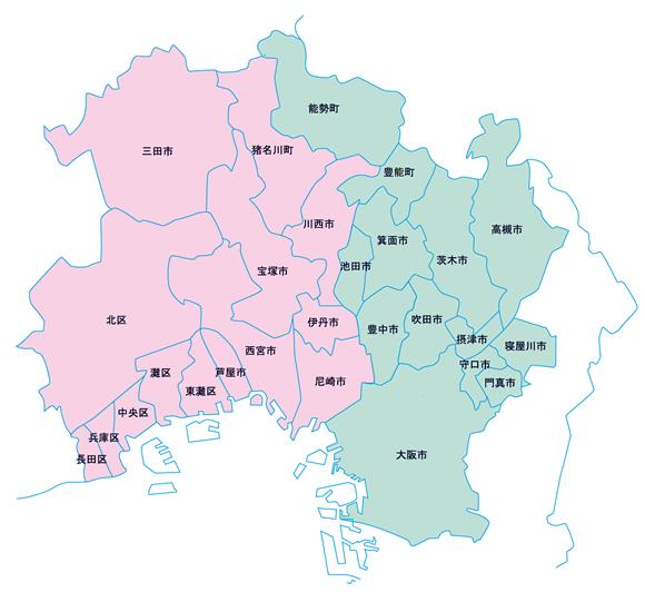 サービス地域図